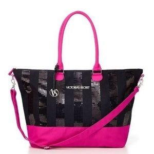 🛍Victoria Secret | PINK Black Weekender Bag Tote